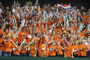 4.200 toeschouwers genoten van het Davis Cup-duel tegen Zuid-Korea. foto AP