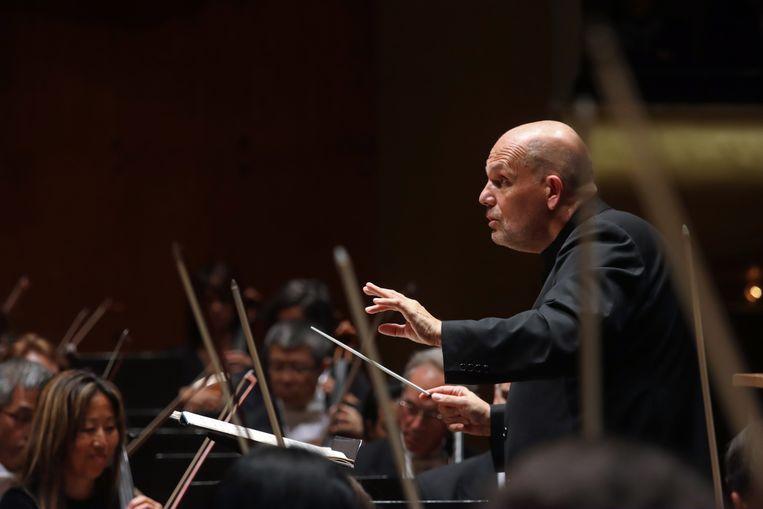 In oktober leidde Jaap van Zweden nog het New York Philharmonic: 'Ik ben vooral bang dat het heel lang kan duren voor we ons weer aan het publiek kunnen presenteren.' Beeld Getty Images