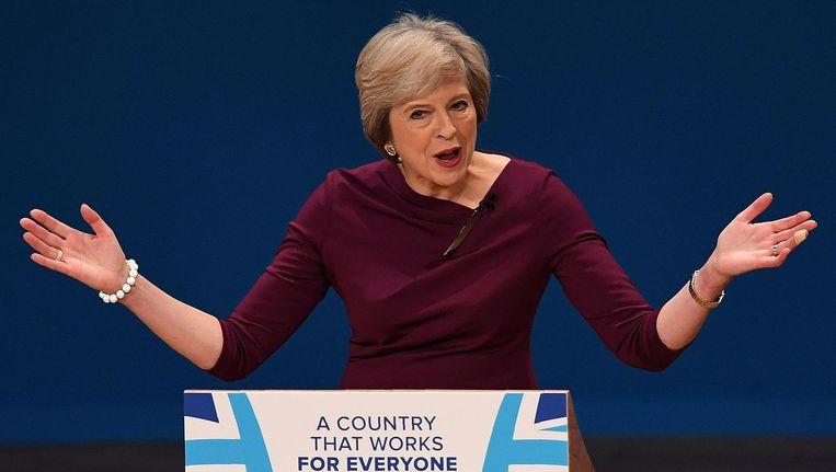 Theresa May. Beeld afp