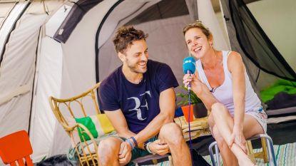 Het Nationale Kampeerweekend: Tine Embrechts en Guga Baúl kamperen met hun kinderen in de tuin