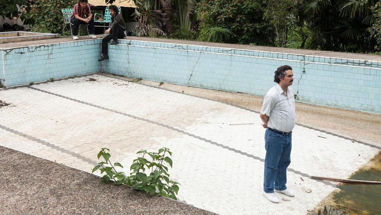 Wagner Moura als Pablo Escobar in het tweede seizoen van Narcos. Beeld Netflix