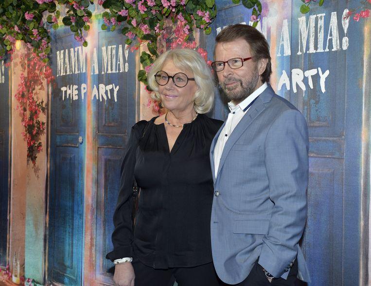 Bjorn Ulvaeus en zijn vrouw Lena Kallersjo. Beeld TT NEWS AGENCY