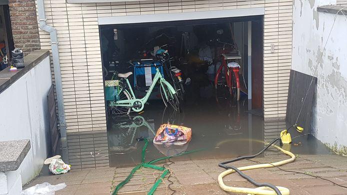 Een ondergelopen garage.