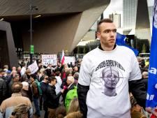 Protest in Rotterdam tegen vrijlating Volkert van der G.