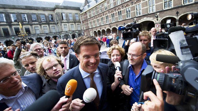 Journalisten omringen Rutte © ANP Beeld
