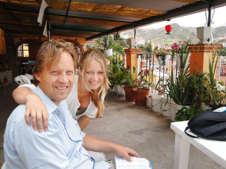Wim Faber met zijn dochter Anne in 2011. Beeld RV