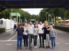 Wandelen als reünie met familie uit Zwitserland en Canada