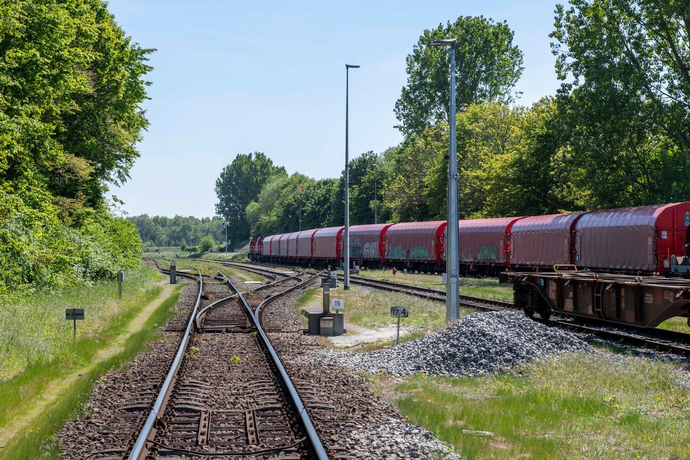 Spoorwegemplacement in Sas van Gent.