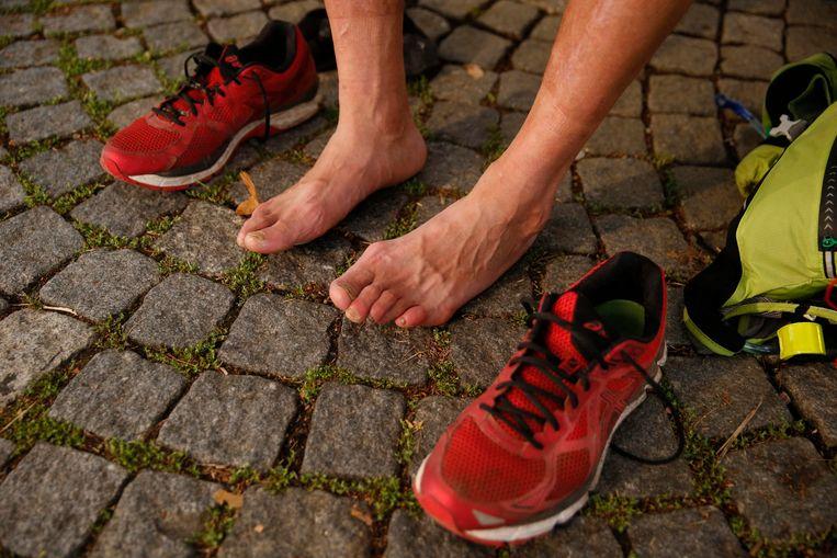 Blaren en spierpijn zijn de vaakst voorkomende kwalen. Beeld BELGA
