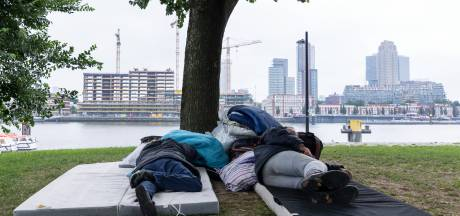 Gemist? Onbegrip over daklozen in parken en GGD-Rotterdam blundert met onleesbare 'Arabische' tekst
