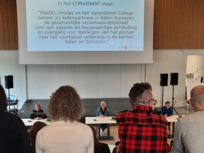 Het Varendonck College en de basisscholenkoepels Platoo en Prodas hebben afgesproken de overgang van basisschool naar voortgezet onderwijs te versoepelen.