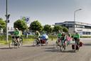 De groep actievoerders gaat vanaf Vion in Boxtel op pad naar Den Haag.