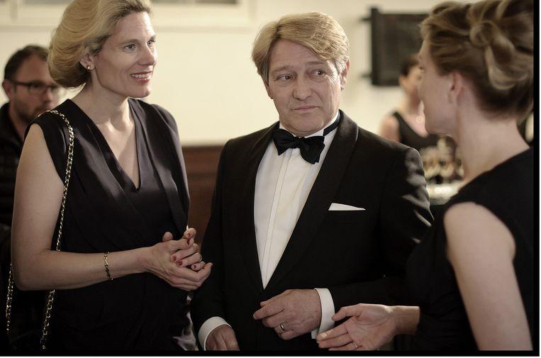 Beeld uit De Prooi, met in de hoofdrol Pierre Bokma als ABN-Amro-baas Rijkman Groenink. Beeld NPO