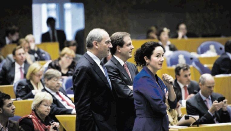 Femke Halsema trekt in de Tweede Kamer vaker samen op met Job Cohen en Alexander Pechtold. (FOTO ANP) Beeld ANP
