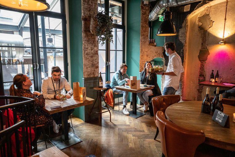 Fieldlab Café Ubica in Utrecht. Beeld Werry Crone