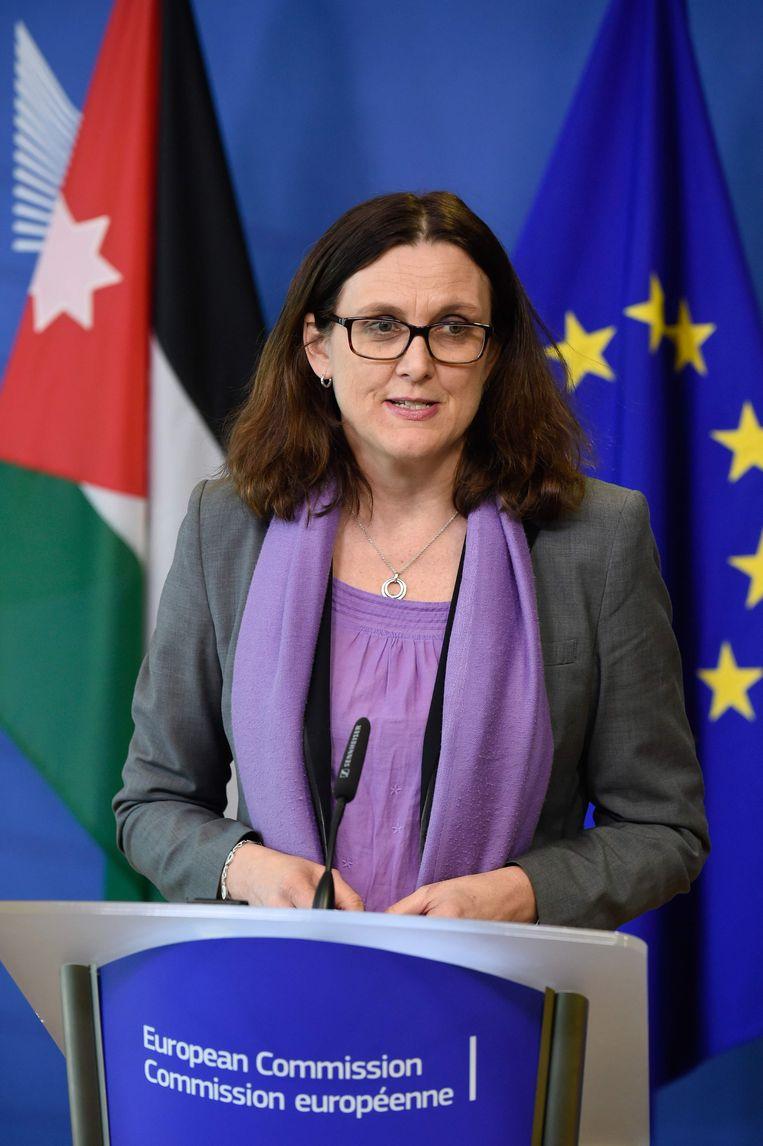 Eurocommissaris voor Handel Cecilia Malmström. Beeld AFP