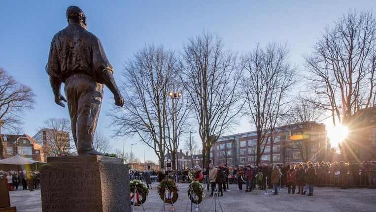 De herdenking van de Februaristaking vorig jaar. Beeld anp