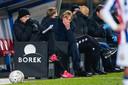 Adrie Koster tijdens het duel met PEC Zwolle.