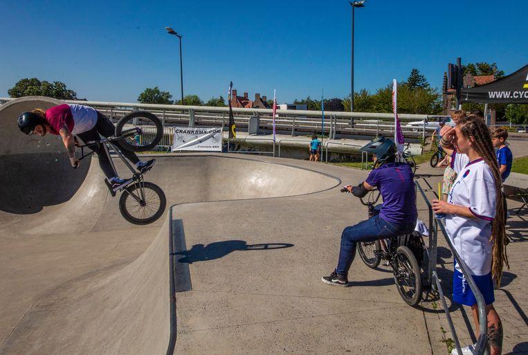 BMX op de skatebowl in Kortrijk dit weekend.