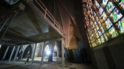 Tussenverdieping waar bib komt, geplaatst in Sint-Laurentiuskerk