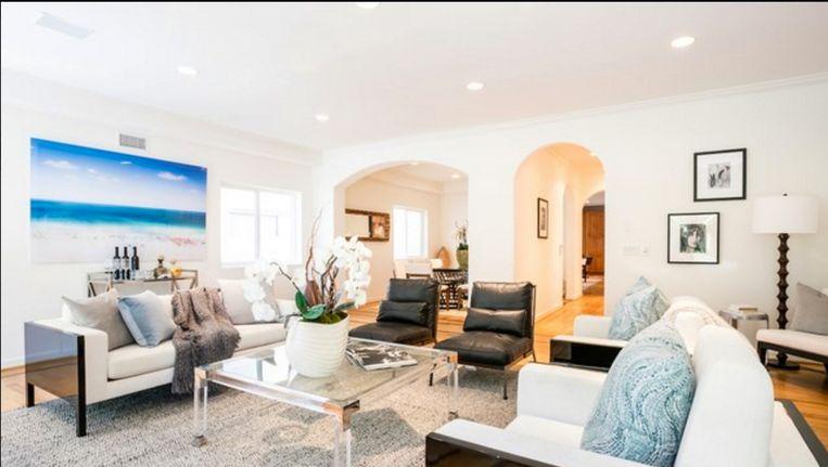 De nieuwe woonkamer van Milow in zijn nieuwe stulpje in Venice Beach, Los Angeles.