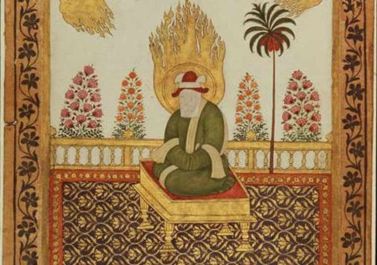 De profeet Mohammed. Maker onbekend, circa 1800, India. Beeld Nationaal museum van wereldculturen