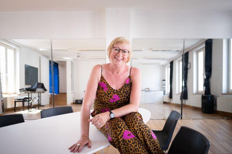 Karine De Keyzer verhuist met Dansparant van de Leopoldstraat naar de Tervuursesteenweg. Hier in de kleine zaal boven.