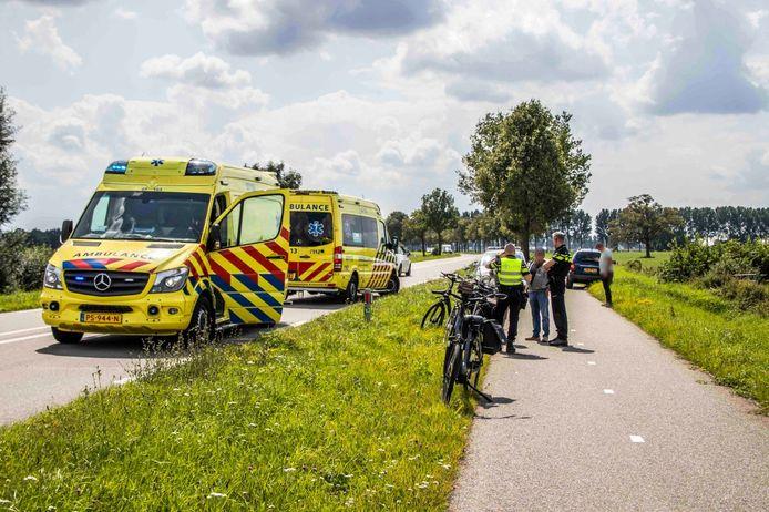 Het ongeluk op de Zevenaarseweg in Angerlo