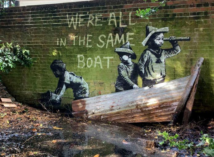 Een Banksy in het Nicholas Everitt Park in Lowestoft.