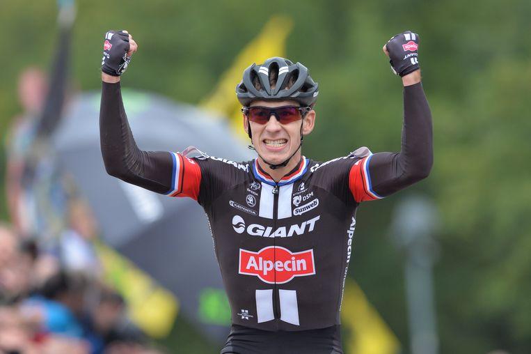 Lars van der Haar is de sterkste tijdens de wereldbekerwedstrijd in Valkenburg. Beeld belga