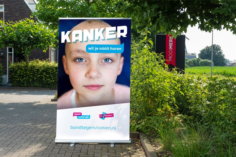 Daar word je even stil van: overleden Anne (11) werkte mee aan campagne tegen schelden met kanker Beeld Bond tegen vloeken