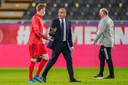 Roberto Martínez met Kevin De Bruyne, na de klinkende zege tegen Wit-Rusland eind vorige maand.