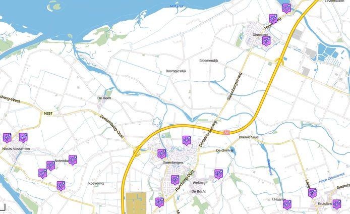 Op de website van de gemeente Steenbergen is te zien waar er panden gezocht worden om een AED aan op te hangen.