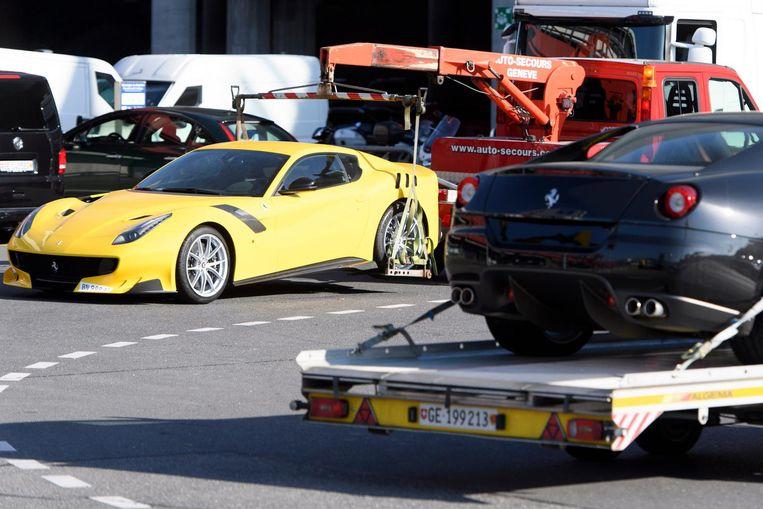 De Ferrari's van Obiang worden in beslag genomen. Beeld afp