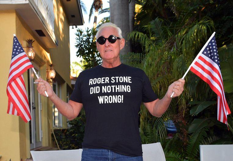 Archiefbeeld. Trump-vertrouweling Roger Stone. (06/02/19) Beeld Photo News