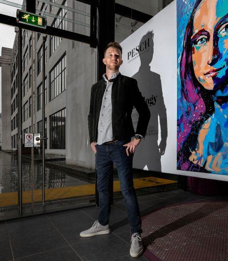 Op allerlei gewóne plekken in Eindhoven zie je de schilderijen van Joost Pesch