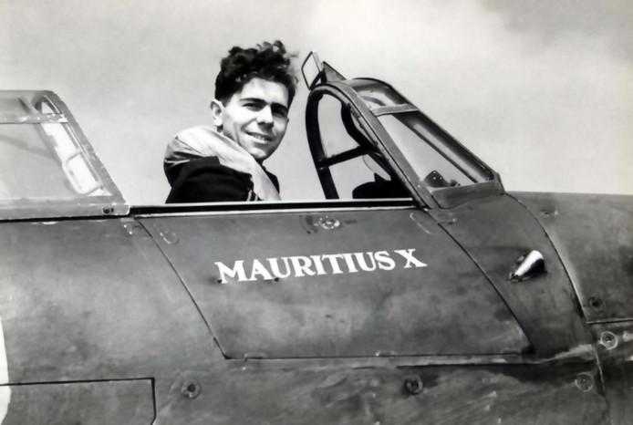 De inmiddels overleden Engelse piloot John Brooks.