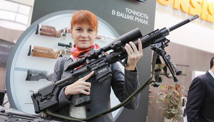 De van spionage verdachte Russin Maria Boetina.