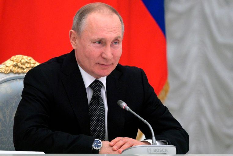 De Russische president Vladimir Poetin vandaag.