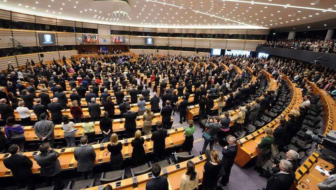 Een zitting van het Europees Parlement.