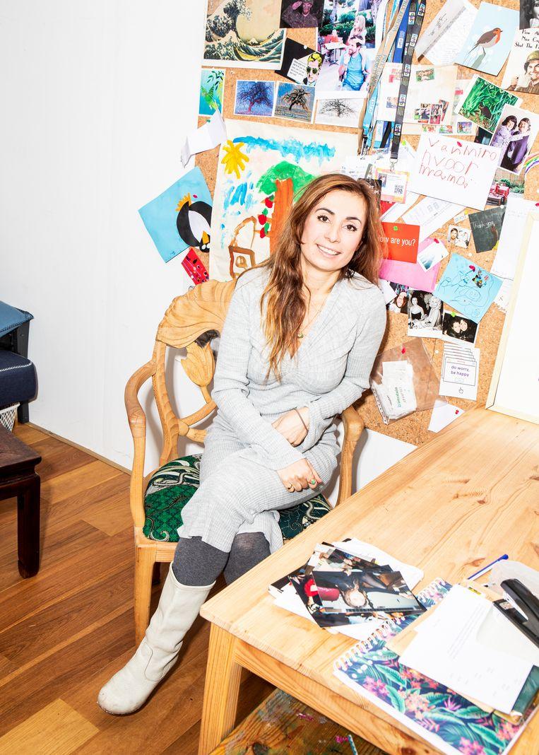 Yula Altchouler: 'Als vluchteling worden we aan een hogere standaard gehouden, ook door onszelf.' Beeld Hilde Harshagen