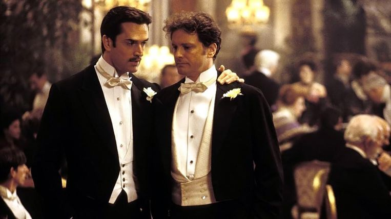 Rupert Everett en Colin Firth in The Importance of Being Earnest Oliver Parker Beeld