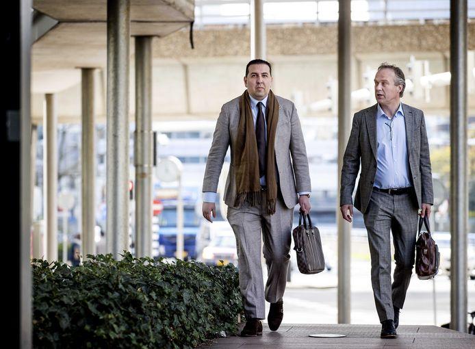 Algemeen directeur Mohammed Hamdi (links) en financieel directeur Jachin Wildemans (rechts) van ADO Den Haag.
