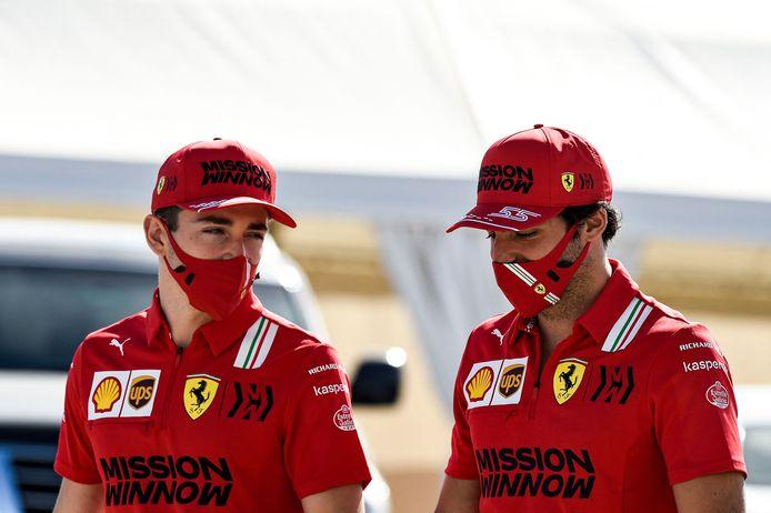 Leclerc en Sainz.