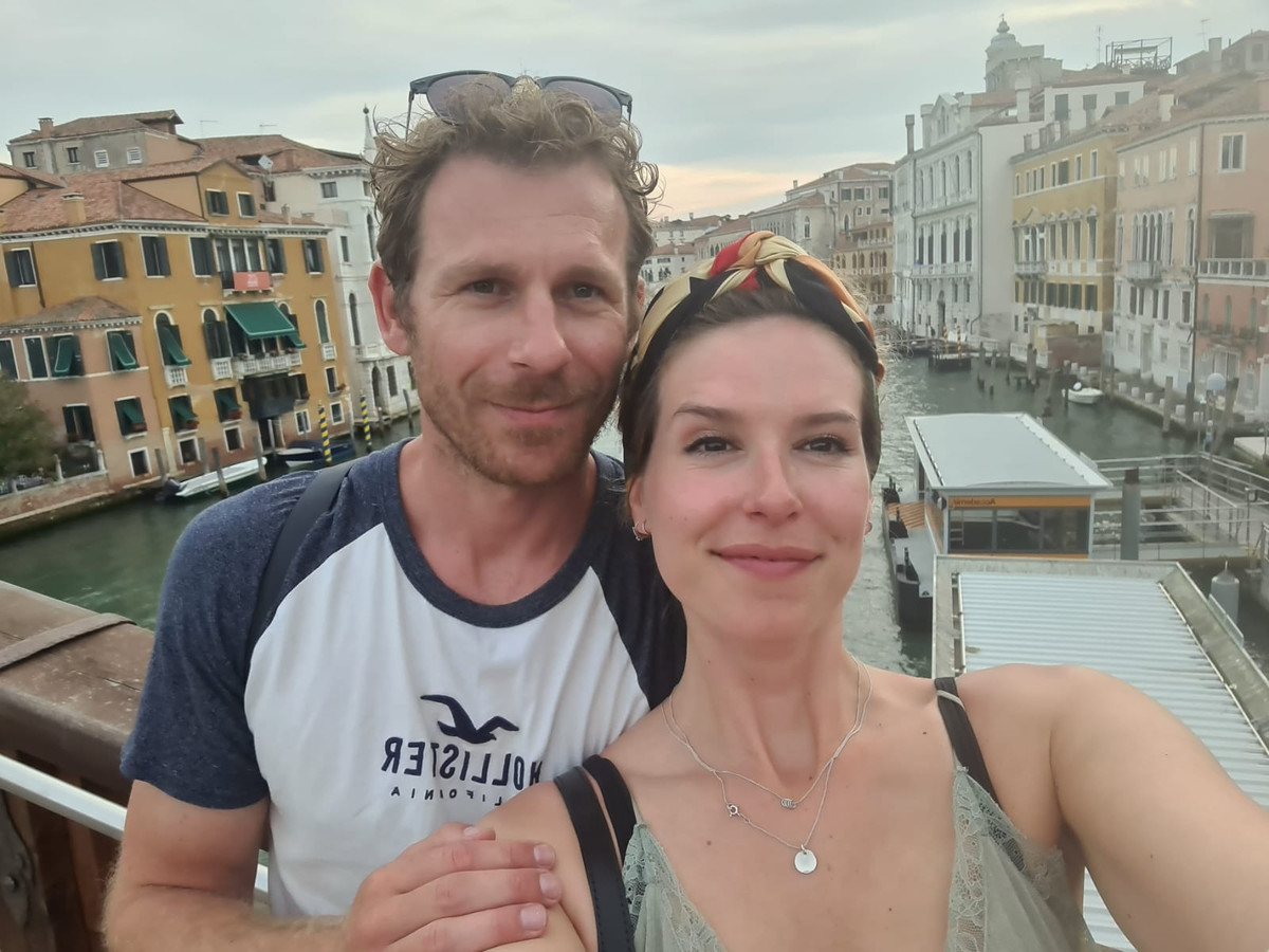 Aimée (28) en haar vriend in Venetië.