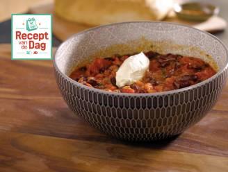 Recept van de dag: Mounirs chili sin carne