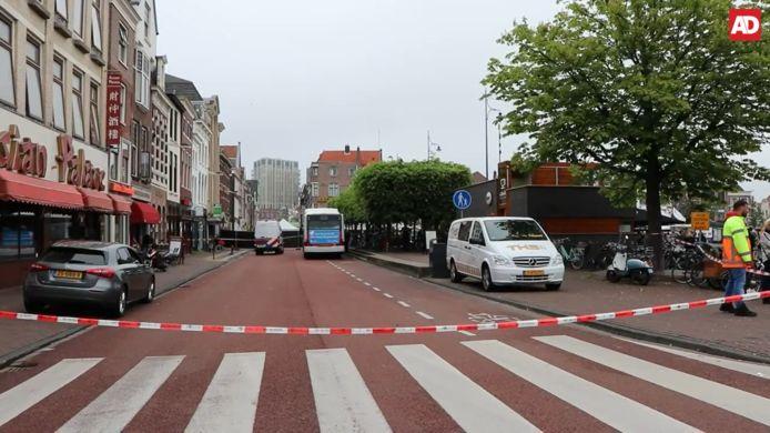De Steenstraat in Leiden was afgezet voor onderzoek.