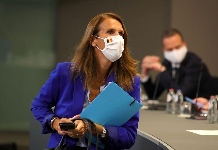 Volgens de MR is het 70 procent zeker dat Sophie Wilmès premier blijft. Beeld EPA