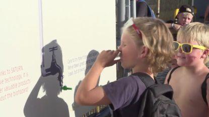 VIDEO. Duurzaam Dranouter: proeven van gezuiverd urinewater