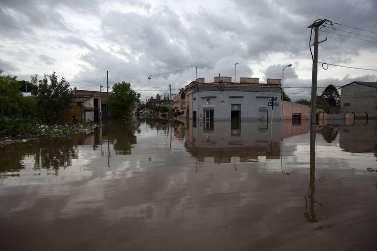 Overstroming in Argentinië, 29 december. Beeld AFP